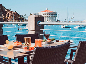 Bluewater Avalon. Enjoy an upscale meal above the water with a wide selection of seafood entrees and wine