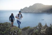 Two guys hiking on Catalina